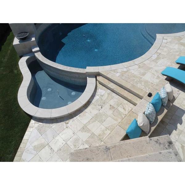 Travertine Pool Decking